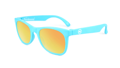 Kids Sunglasses with Turquoise Frames and Yellow Sunset Mirrored Lenses, Flyover