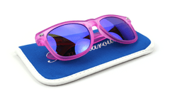 Knockaround Bubblegum Fort Knocks Sunglasses, Pouch