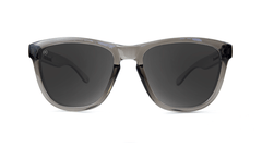Premiums Sunglasses with Grey Frames and Silver Grey Mirrored Lenses, Front