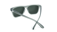 Knockaround Fast Lanes Frosted Grey Frame with Green Moonshine Lenses, Back