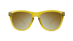 Sunglasses with Amber Monochrome Frames and Gold Lenses, Front