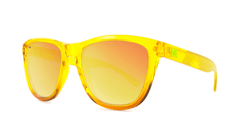 Knockaround Green Flash Sunglasses, ThreeQuarter