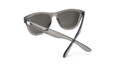Premiums Sunglasses with Grey Frames and Silver Grey Mirrored Lenses, Back