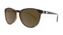 Mai Tais Sunglasses with Glossy Tortoise Shell and Brown Amber Lenses, ThreeQuarter