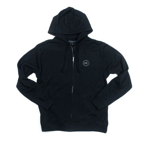 Black on Black Logo Zip Sweatshirt