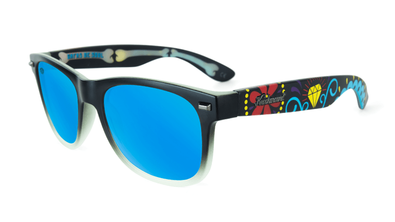 Knockaround Gafas de Soul with blue lenses, flyover