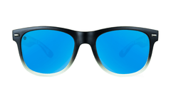 Knockaround Gafas de Soul with blue lenses, Front