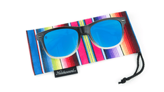 Knockaround Gafas de Soul with blue lenses, Pouch