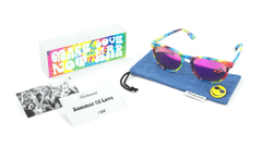 Sunglasses with Tie Dye Frames and Polarized Fuchsia Lenses, Set