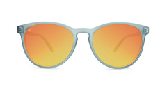 Mai Tais Sunglasses with Frosted Grey Frames and Red Sunset Mirrored Lenses, Front