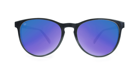Mai Tais Sunglasses with Glossy Black Frames and Blue Moonshine Mirrored Lenses, Back