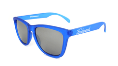 Sunglasses with Frosted Cobalt Frame and Smoke Lenses, Flyover