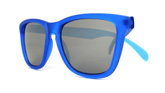 Sunglasses with Frosted Cobalt Frame and Smoke Lenses, Folded