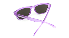 Sunglasses with Frosted Lavender Frame and Smoke Lenses, Back