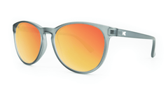 Mai Tais Sunglasses with Frosted Grey Frames and Red Sunset Mirrored Lenses, ThreeQuarter