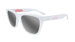 Knockaround Staple White Sunglasses, Flyover