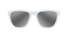 Knockaround Staple White Sunglasses, Front