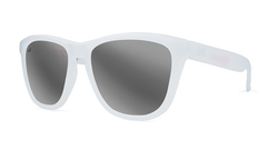 Knockaround Staple White Sunglasses, Threequarter