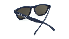 Sunglasses with Navy Blue Frames and Black Smoke Lenses, Back