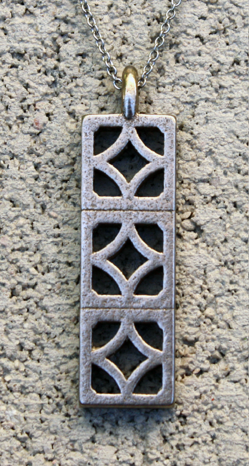 "Breeze-Block Pendant - ""Empress"" block - Minty's Design"