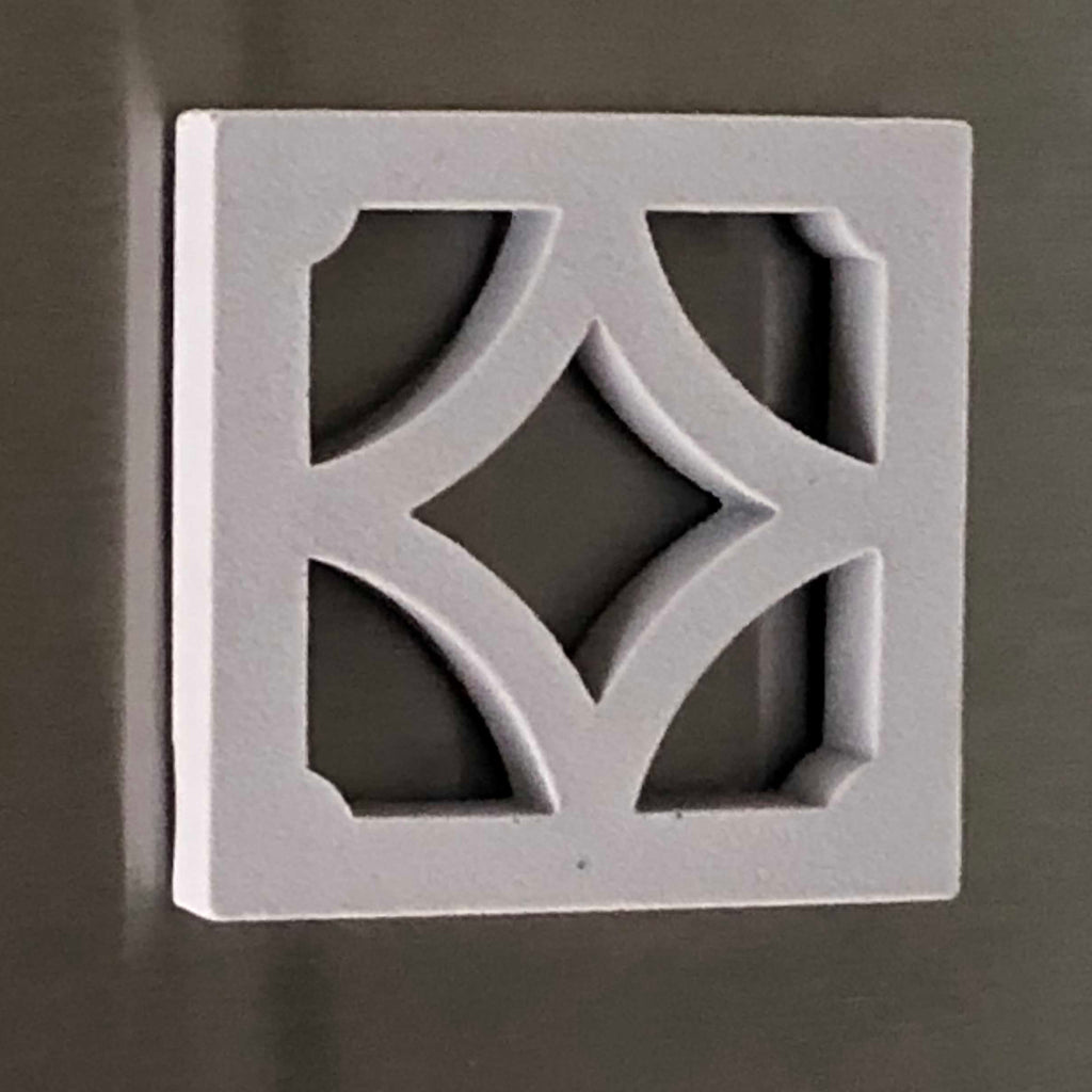 Empress Breeze-Block Magnet - Modernist Grey - Minty's Design