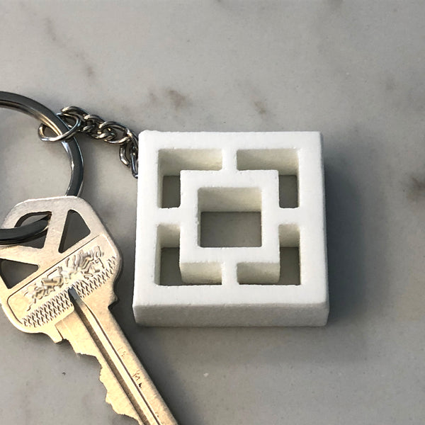 "Mini Breeze-Block Keychain - ""Vista Vue"" - Minty's Design"