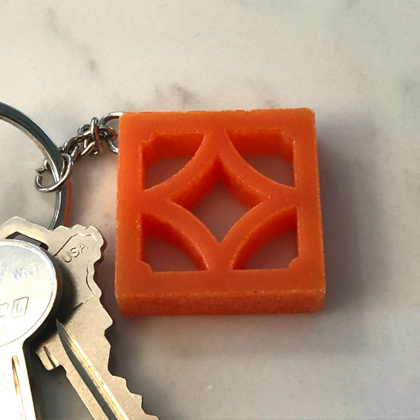 "Mini Breeze-Block Keychain - ""Empress"" - Minty's Design"