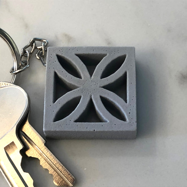 "Mini Breeze-Block Keychain - ""Sunflower"" - Minty's Design"