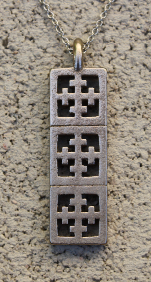 "Steel Pendant - ""Maltese"" block - Minty's Design"