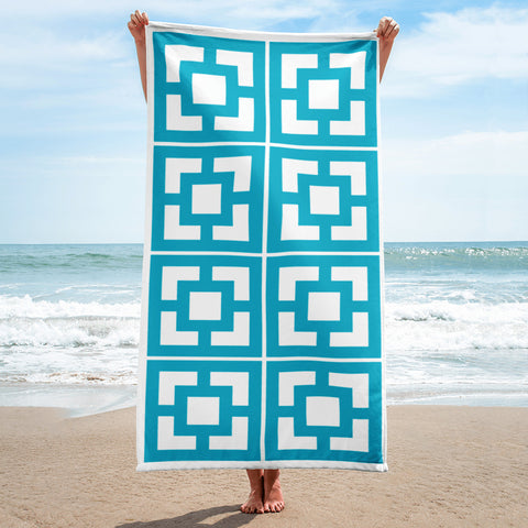 "Breeze-Block Pattern Towel - ""Vista Vue"" block - Minty's Design"
