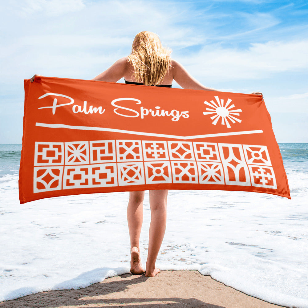 Roofline Towel - Palm Springs - Orange - Minty's Design