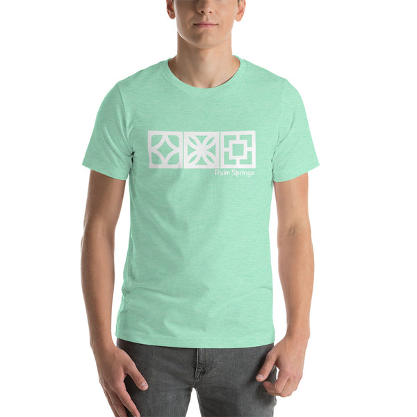 "Palm Springs ""Triple Play"" Breeze-Block T-Shirt - Minty's Design"
