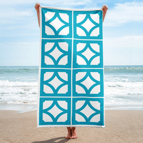 "Breeze-Block Pattern Towel - ""Empress"" block - Minty's Design"