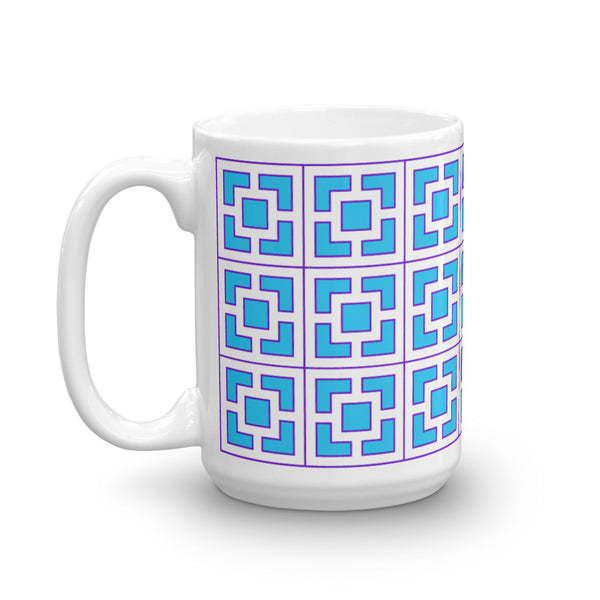 "Breeze-Block Mug - ""Vista Vue"", Blue/Purple - Minty's Design"
