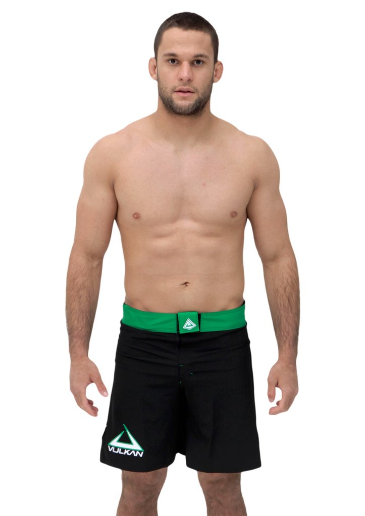 COMBAT FIGHT SHORTS BLACK/GREEN