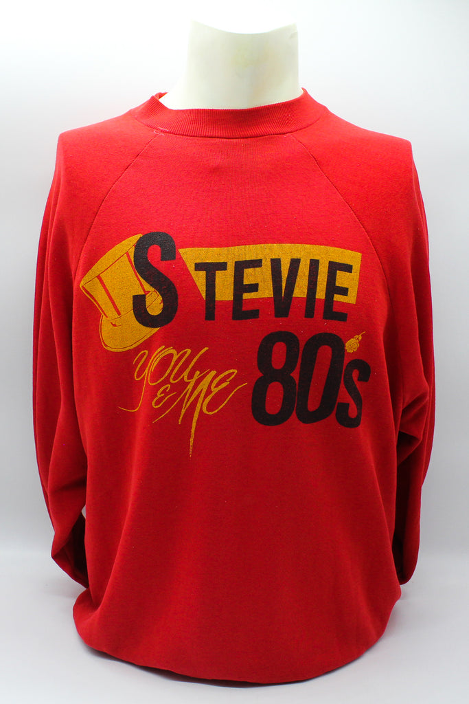 80's Vintage Stevie Wonder Pullover Crew Neck Sweater