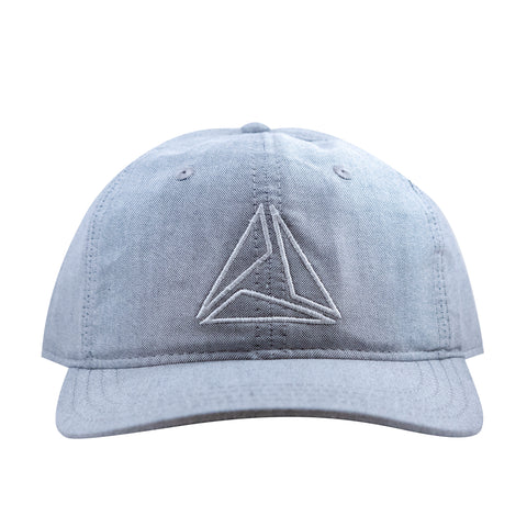 LIGHTWEIGHT COTTON TRIANGLE CAP - LT GRAY/WHITE