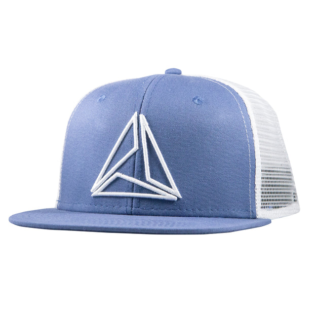 TRIAD RAISED TRUCKER - BABY BLUE/WHITE