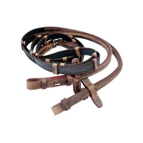 Web Rubber Reins by Barnes Tack Room