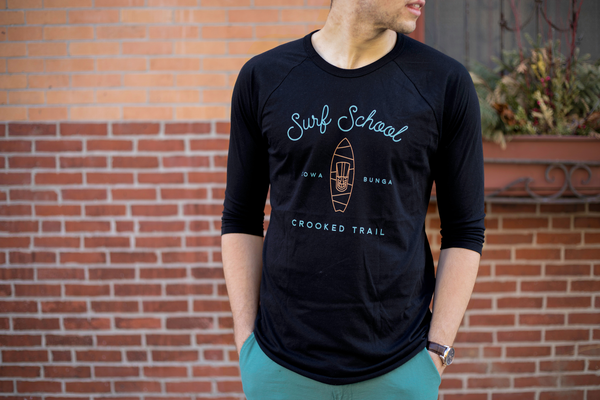 Surf's up baseball tee