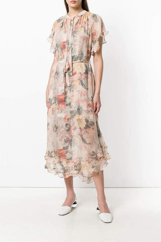 Zimmermann Radiate Cascade Dress - Never Twice