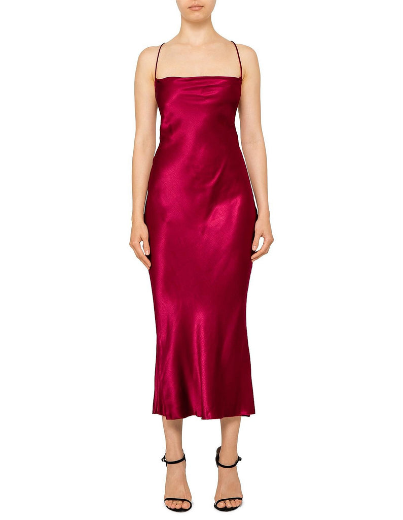 Bec & Bridge Kaia Cowl Dress in Plum