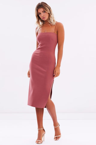 Bec & Bridge Love Ruler Midi Dress in Lipstick