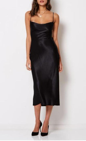 Bec & Bridge Kaia Cowl Dress in Black