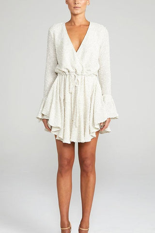 Shona Joy Aimee Frill Cuff Drawstring Mini Dress - Never Twice