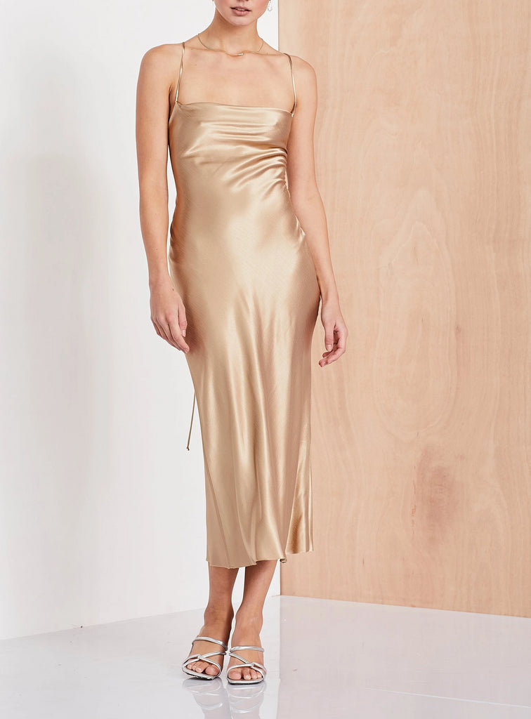 Bec & Bridge Amazonite Dress in Gold