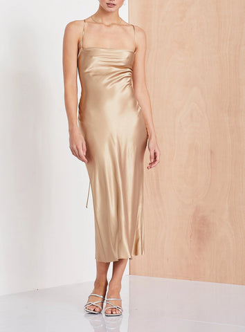 Bec & Bridge Amazonite Dress in Gold - Never Twice