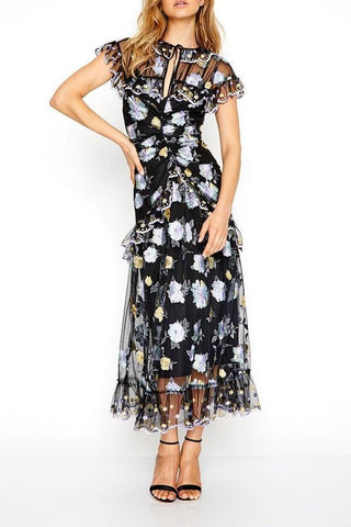 Alice McCall Floating Delicately Dress in Black - Never Twice