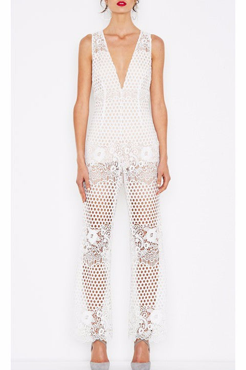 Alice McCall New Romantics Jumpsuit in White - Never Twice