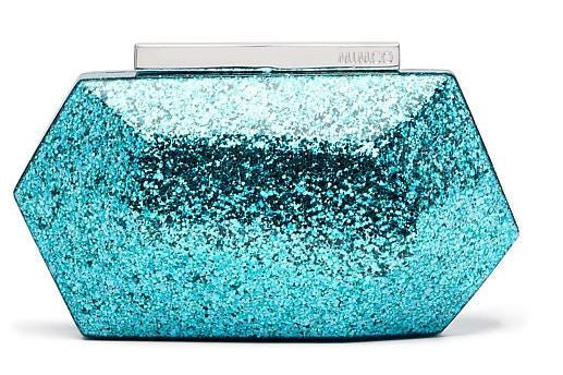 MIMCO Flicker Hardcase Clutch Aqua Blue - Never Twice